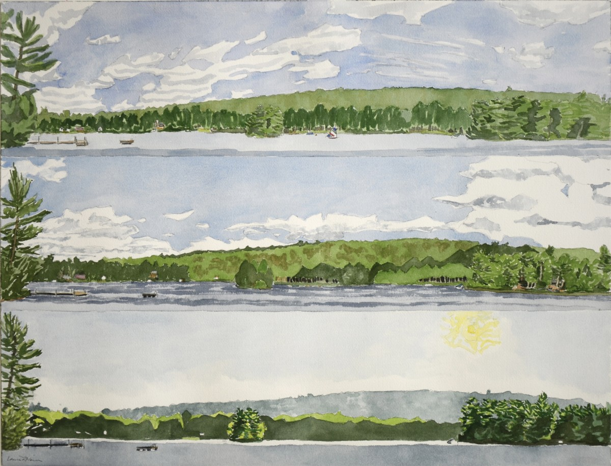 A Day on the Lake, Raymond, Maine 2012 - Laura Heim