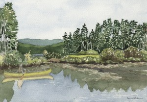 Canoe on Panther Pond, Maine 2004 - Laura Heim