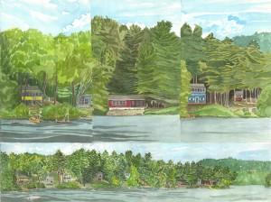 Slices of the Lake, Raymond, Maine 2011 - Laura Heim