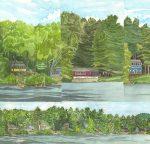 Slices of the Lake, Raymond, Maine 2011 - Laura Heim