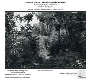Dream-Preserve Willow Pond Nature Area Invitation.