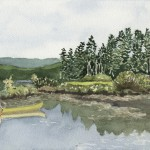 Canoe on Panther Pond, Maine 2004